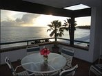 The apartment's own  terrace faces the ocean, You have your own  barbecue and furniture and views!!
