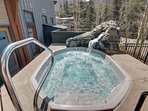 Relax in the hot tub or sauna after a long day of activities in Keystone.