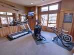 Fitness room located at Black Bear Lodge.
