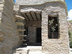 The entrance of the Cyclades Olive Museum