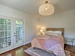 Retire to the master bedroom to rest up for the next day's activities.
