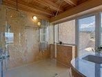 En-suite bathroom with stunning views