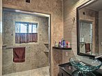 Wash your day away in this luxury bathroom.