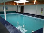Indoor heated pool.