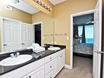 Private Master Bath Double Vanity