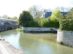 the river Boutonne - running between the chateau and the bar