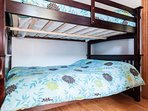 Bedroom 4: Double-Double bunk bed. This bedroom is the only one that is on...