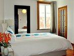 Bedroom 1: Queen size bed, super comfortable mattress.