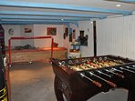 Basement with Baby-Foot and toys for children.  2 twin mattresses are...