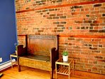 Brick wall in bedroom 4