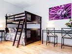 Bedroom 3. Double-double bunk bed + desk