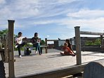 Rooftop terrace: great space to have a beer, relax, do some yoga, have a...