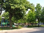 At one corner of my street, a big children's park. Great for families!