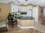 Breakfast bar with seating for 2