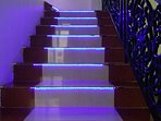 LED lit stairwell