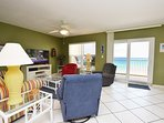 Living Room Islander Beach 6009 Fort Walton Beach Okaloosa Island Vacation Rentals