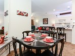 Linger over your meal in your own dining room!