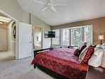 Great master bedroom with King size bed, flat screen TV to enjoy
