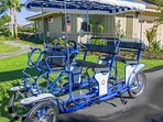 Shared access to our family surrey bike among our guests in the Mauna Lani area!