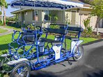 Enjoy shared use of our family Surrey Bike