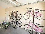 Lots of bikes (4 adult, 2kids)
