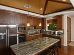 Prepare meals in Gourmet  Kitchen with fresh Hawaii grown foods