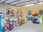 Lots of Bikes, Beach Gear and Toys for the Pool