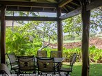 Quiet Lush Gardens, Lava and Golf Course fairway surround  your Lanai