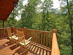 Second Floor Deck at Cozy Creek