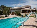 Villa with pool & slide