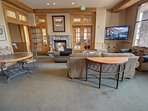 relax in the common area with friends and family at Buffalo Lodge