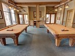 Enjoy a game of pool in the common area of Buffalo Lodge
