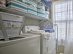 Rinse off your bathing suits with the in-unit laundry machines.