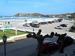 primera linea de playa, zona de aparcamiento vista desde la terraza
