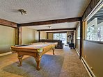 Play a game of pool in this entertainment space.