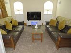 Relax in the tranquil lounge with 48 inch TV.