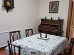 Dining room with organ for any music lovers