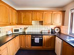 Traditional style kitchen, with plenty of space.