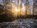 Beautiful when the valley is misty and the sun is rising seen here one winter's morning