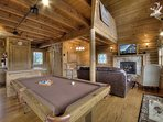 Game Room and Big Screen TV