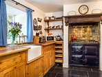Aga with Gas hob and electric oven