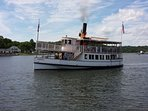 Historic Steamboat SABINO, plying the Mystic River from Mystic Seaport Museum