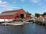 Mystic Boat Restoration Shed - Amistad to Mayflower and many more