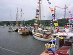 Wooden Boat Show, Mystic Seaport. Also hosts Regattas, Antique Vehicles and more.