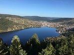 Vue sur le lac de Gérardmer
