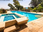 900 sf pool, 54 sf Jacuzzi in a half acre garden all for one guest