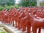 Buddha Eden and terracta army