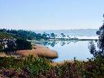 view of Obidos lagoon near villa