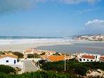 Small town at headland of Obidos lagoon