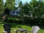 Large private backyard